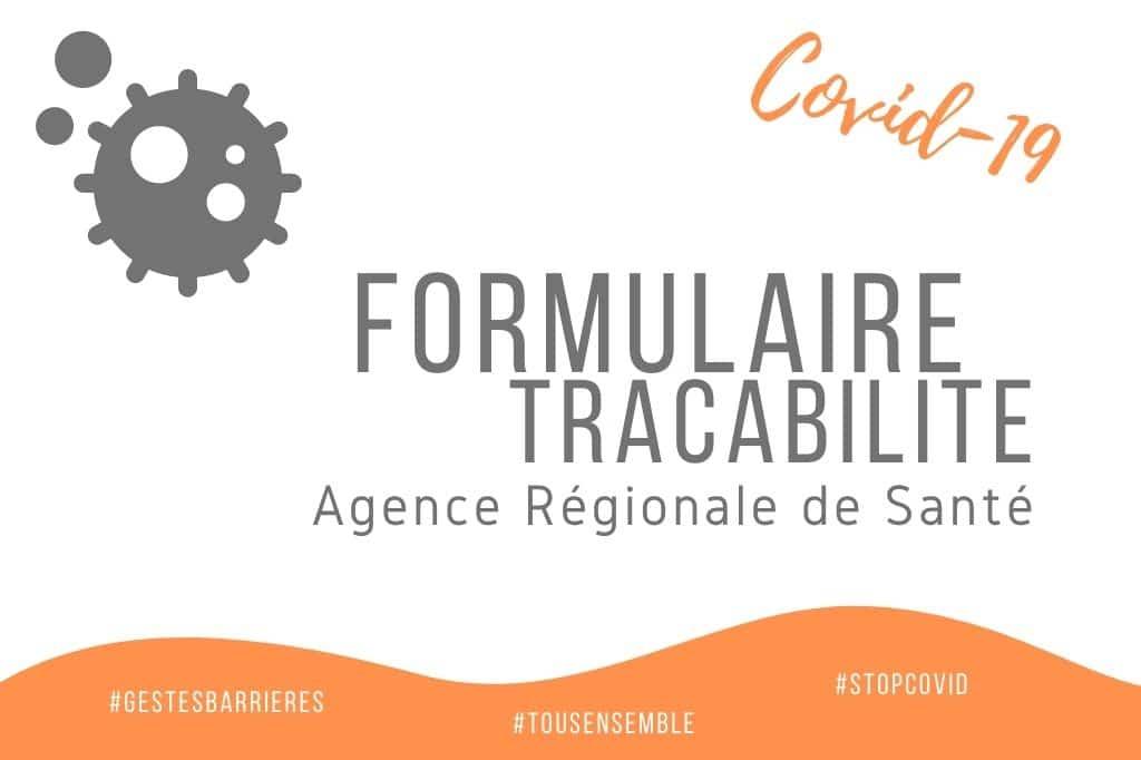 ARS : Formulaire de traçabilité Covid-19