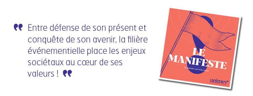 Le Manifeste de l'Union Française des Métiers de l'Evénement